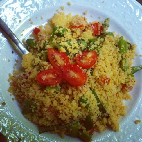 Dinner tonight: Tomato & Basil Couscous